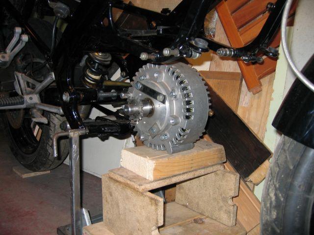 Подготовка к установке электродвигателя Etec