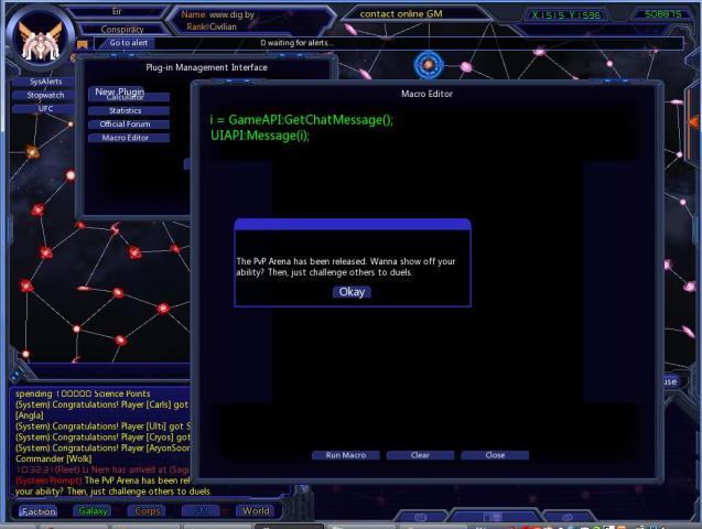 Galaxy Online MacroEditor plugin