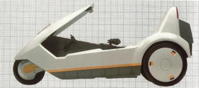 Sinclair C5 - вид сбоку