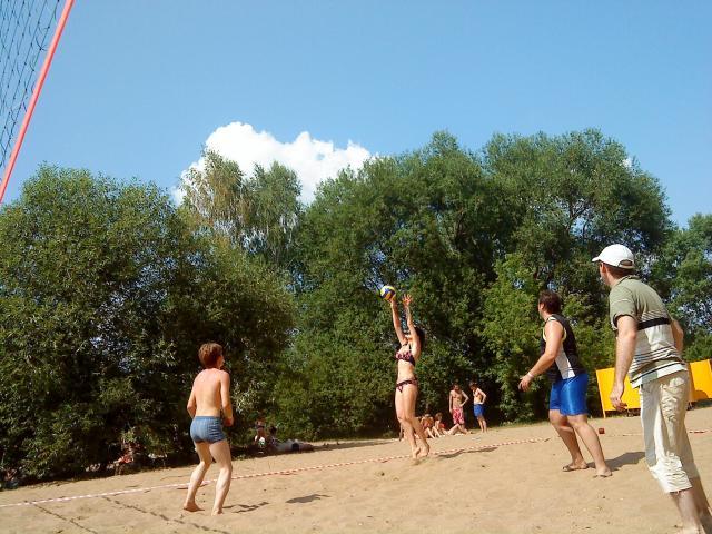 Волейбол на чемпионате школ социальных танцев