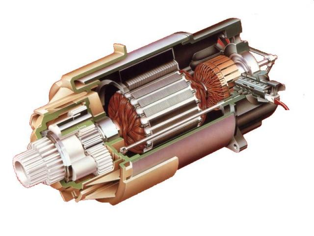 Схема электромотора электротрицикла Sinclair C5